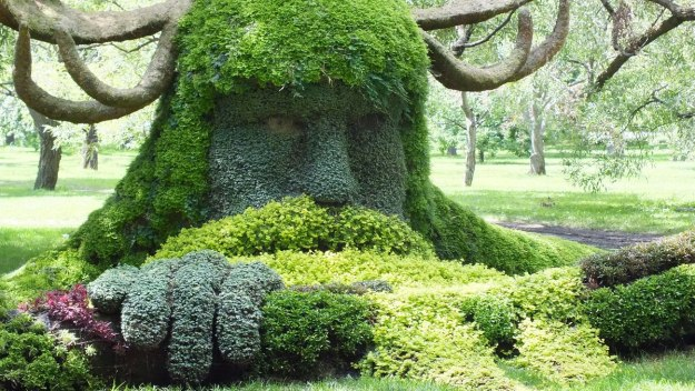 Spirits of the Wood - Cernunnos - Mosaiculture (warriors face) - Montreal Botancial Gardens