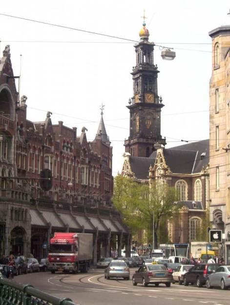 westerkerk, west church in amsterdam, the netherlands