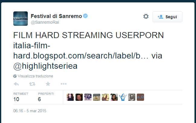 Porno a Sanremo