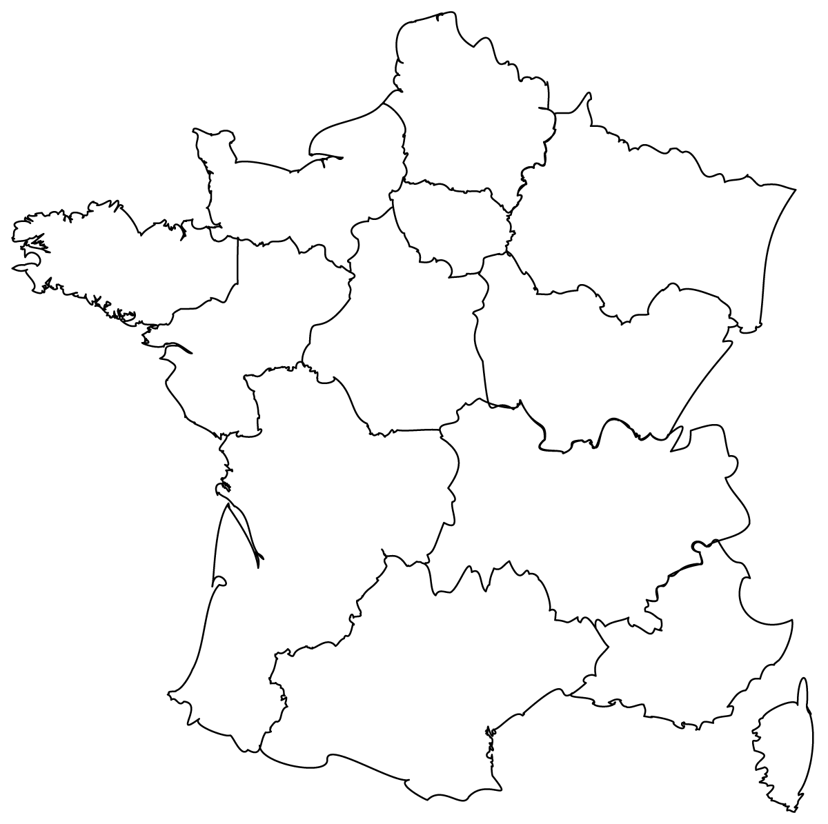 Regions De France Maps Of The Regions Of France