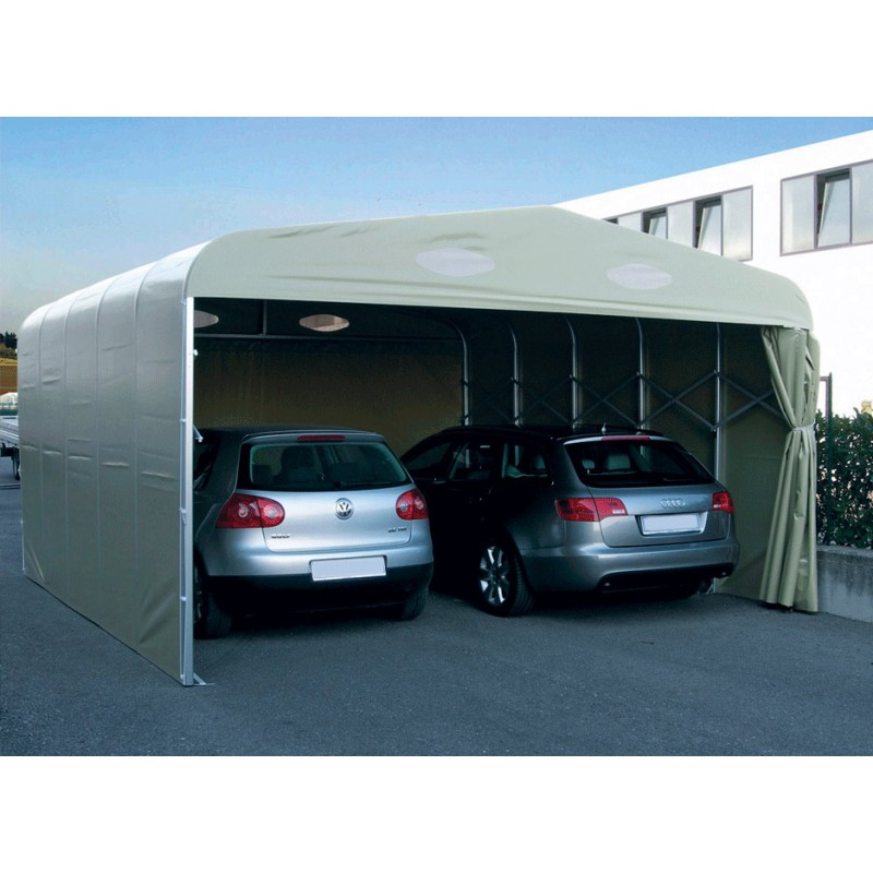 Abris De Terrasse Retractable Garage Pvc Pliant Double : Un Abri Repliable Pour 2