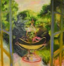 "Sunday Delights, 2013. Oil on Canvas. ""Display Windows"" series."