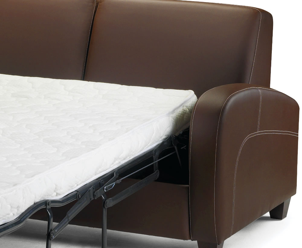Vivo Faux Leather Pull Out Sofa Bed Chestnut Uk Delivery