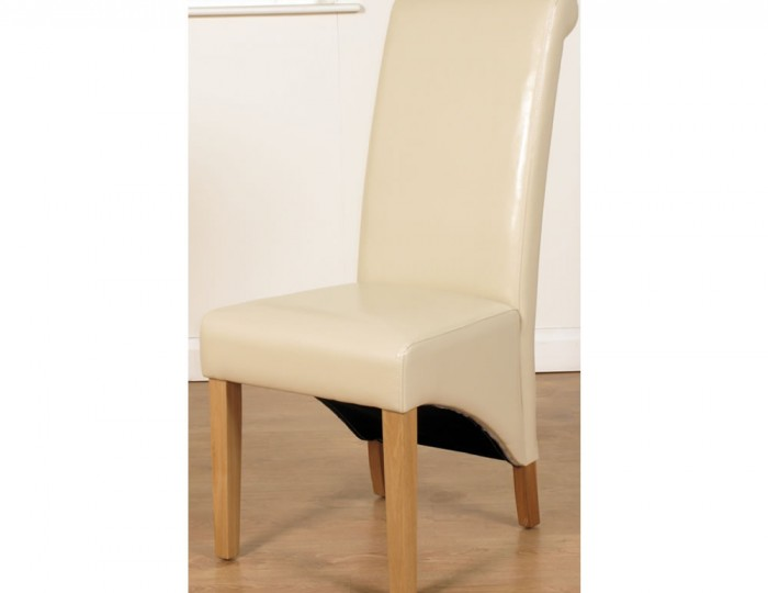 Wardrobe Assembly Nico Ivory Faux Leather Dining Chairs