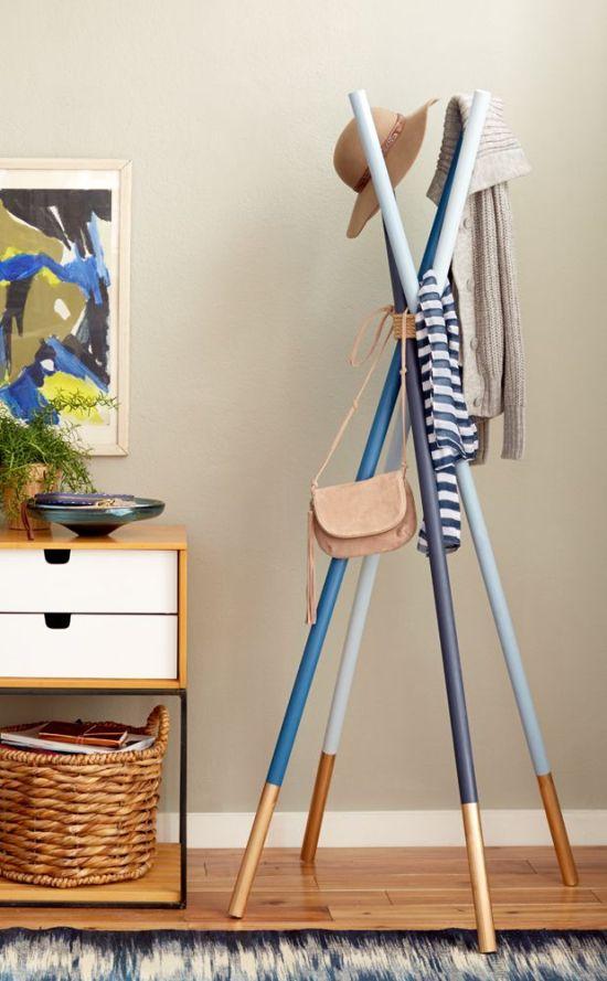 Wooden Dowel Coat Rack via Emily Henderson | Francois et Moi