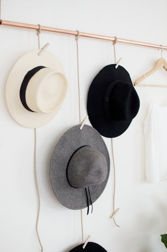 DIY du Jour: Hat Rack