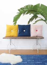 Primp Your Place with DIY Button Tufted Pillows