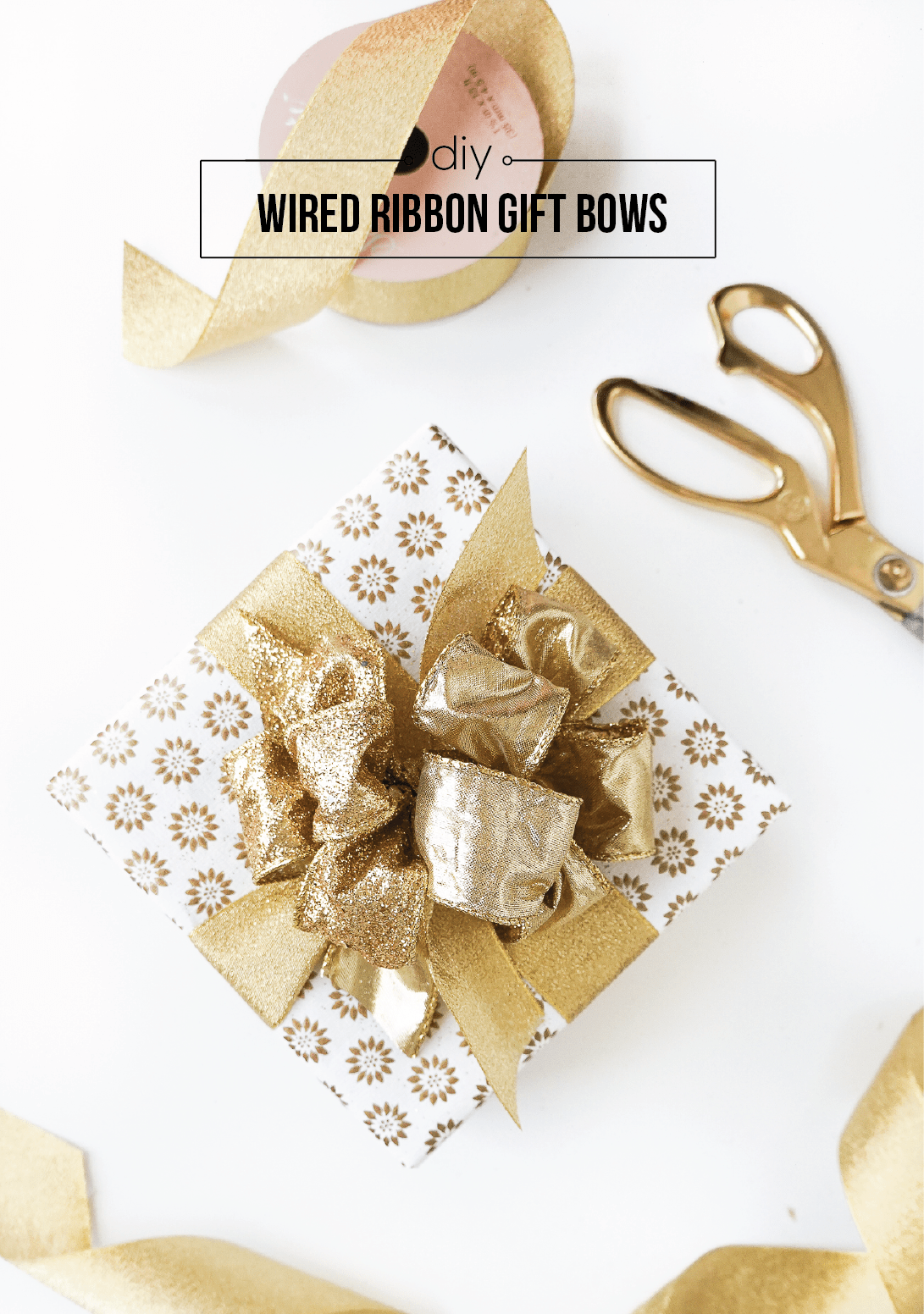 I'm sharing the secret to making poufy ribbon gift bows for gifts, and it's easier than you think!