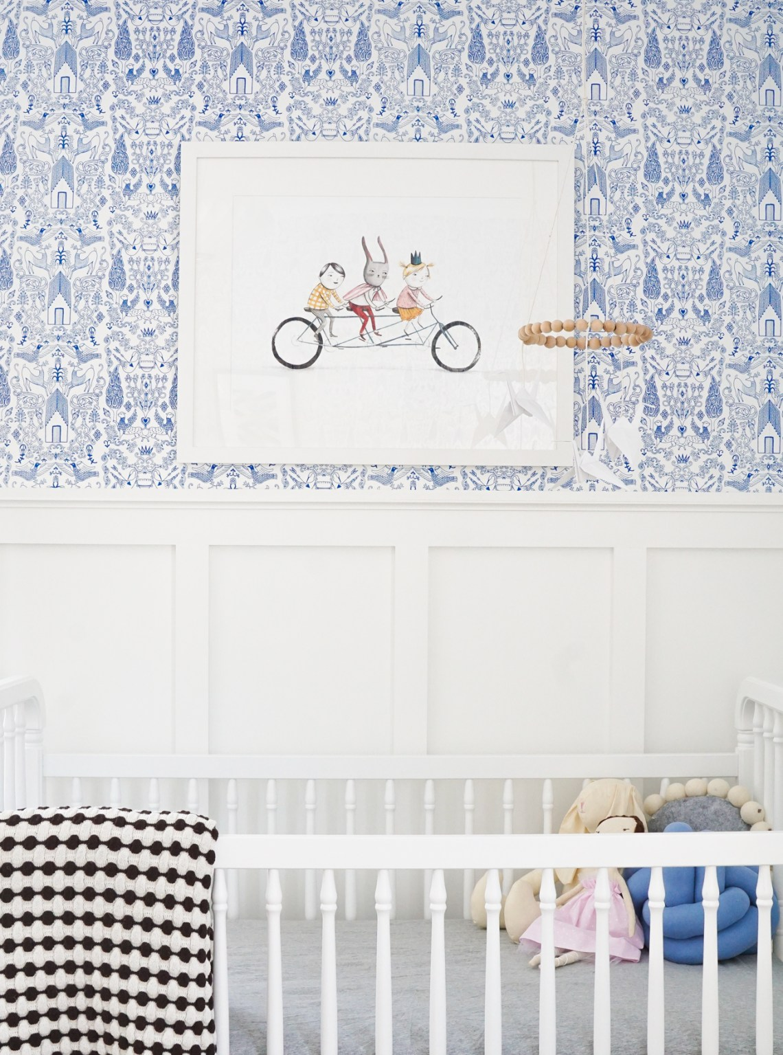 "See the progress we've made with this week's ""Francois Renovates."" We're talking about art selections in this nursery sneak peek!"