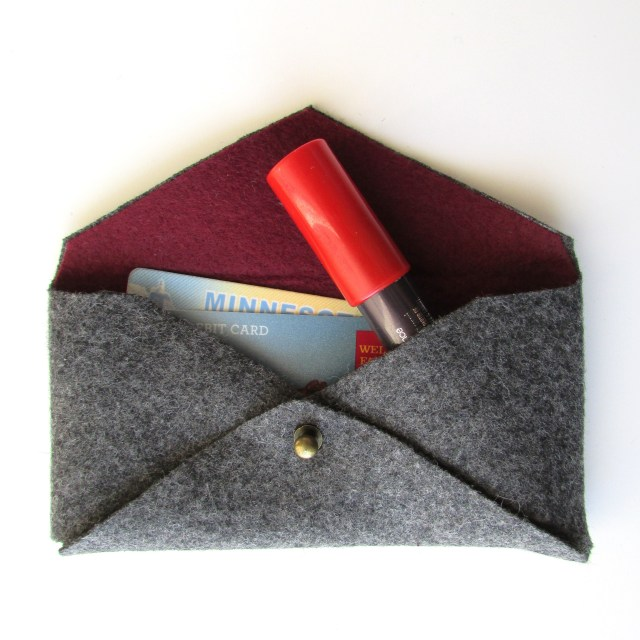 The Mini Felted Clutch