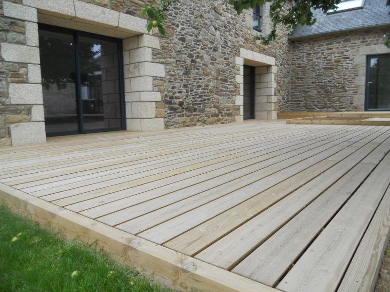 Terrasse Bois Pierre Moderne