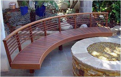 wood bench finish Carpenter Los Angeles California