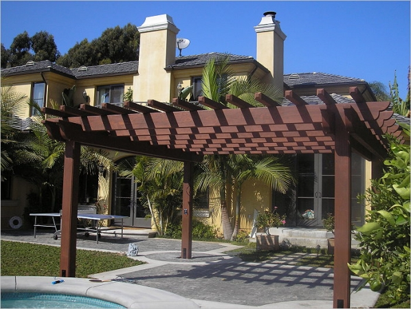 Wood Pergola Finish Carpentry LA