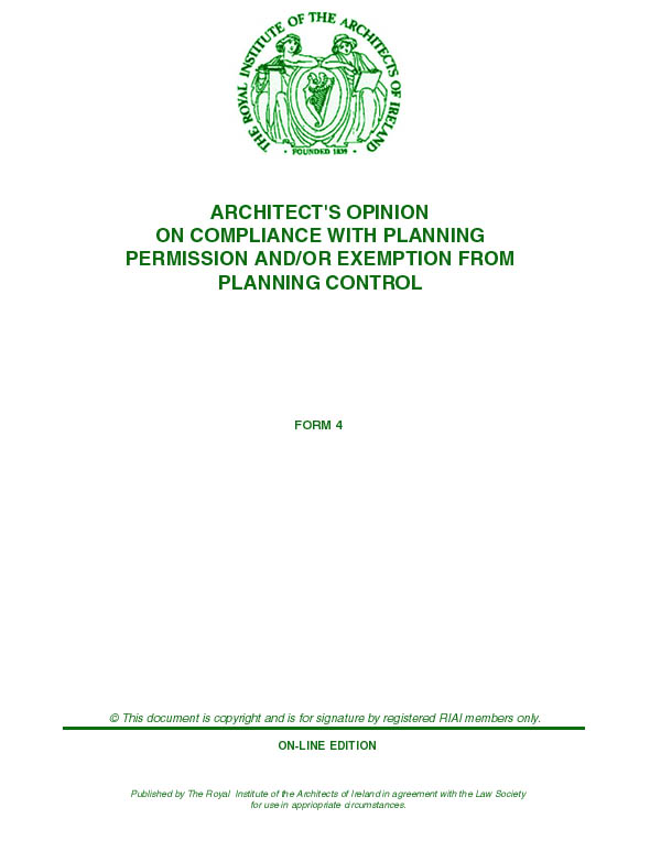 Certification Frankarchitecture - certificate of construction completion