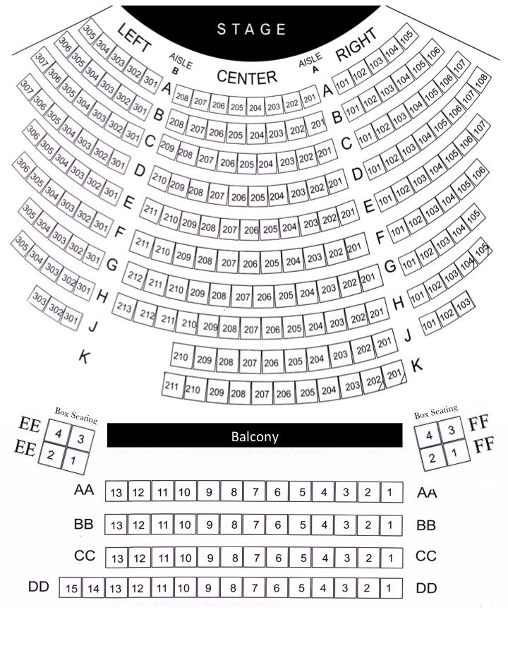 Seating Chart - Franke Center for the Arts - seating chart