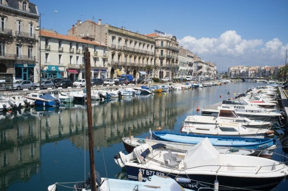 Beautiful, serene Sete, near Beziers in Southern France.