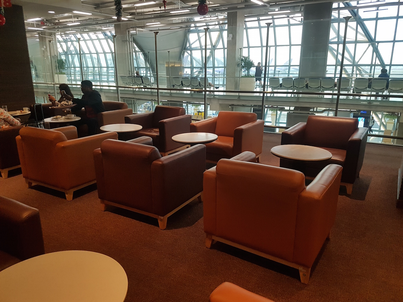 Thailand Sessel Thai Airways Business Class Lounge Terminal D Bangkok