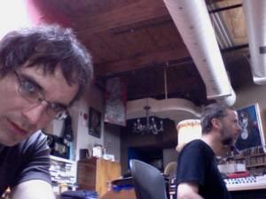Frank Horvat & Jean Martin working hard