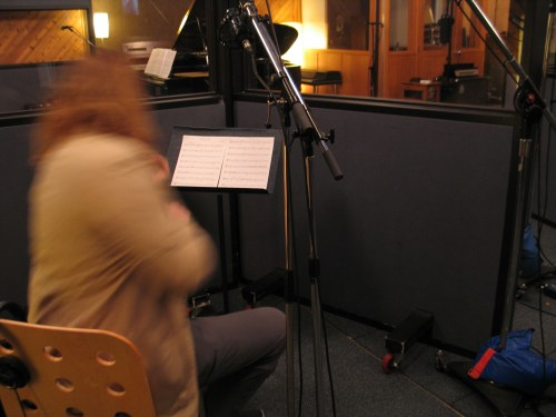 Edwin Huizinga recording I Wait For You by Frank Horvat