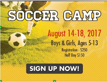 Panthers Soccer Camp Aug