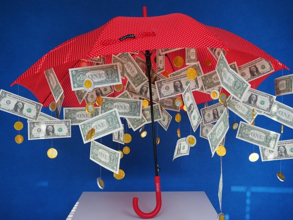 Every time it rains, it rains pennies from Heaven.