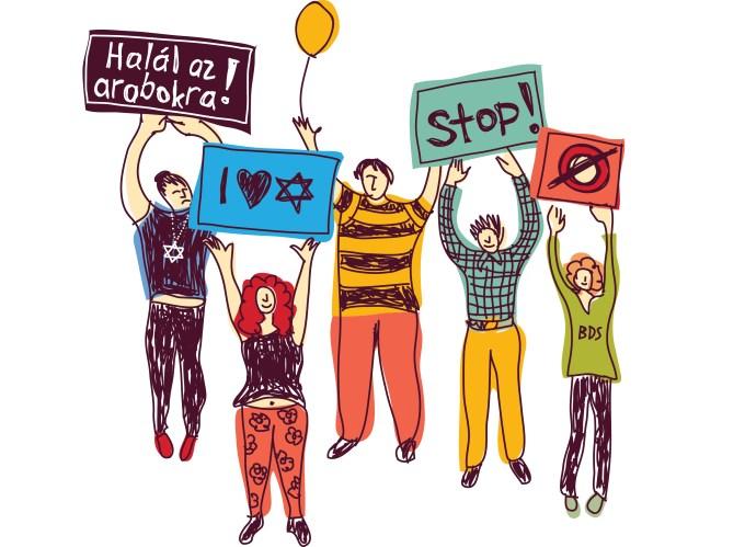 izraeli tüntetés szélsőbal szélsőjöbb frankpeti