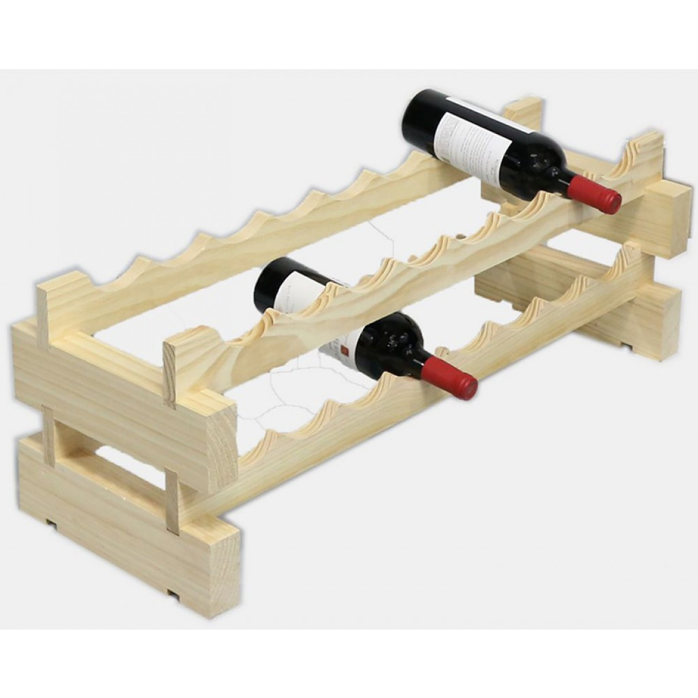 Wooden Bottle Rack Modularack 16 Bottle Rack 2 X 8 Natural Wine Racks