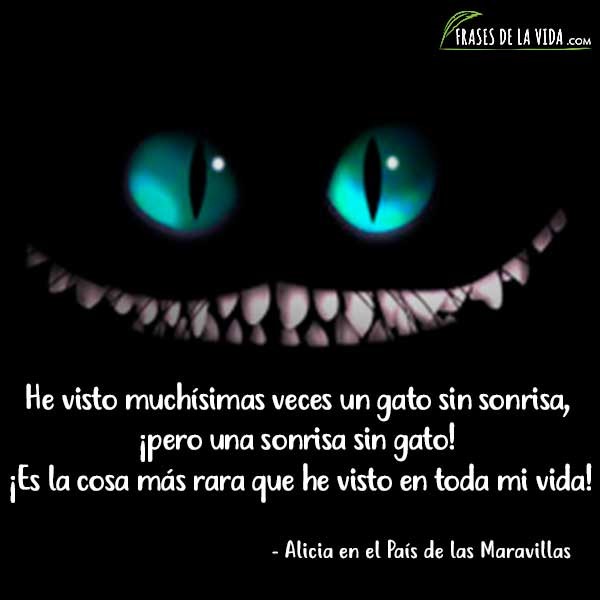 Alice In Wonderland Wallpaper Quotes Cheshire Cat 10 Frases Del Gato De Cheshire La Sonrisa Enigm 225 Tica Con