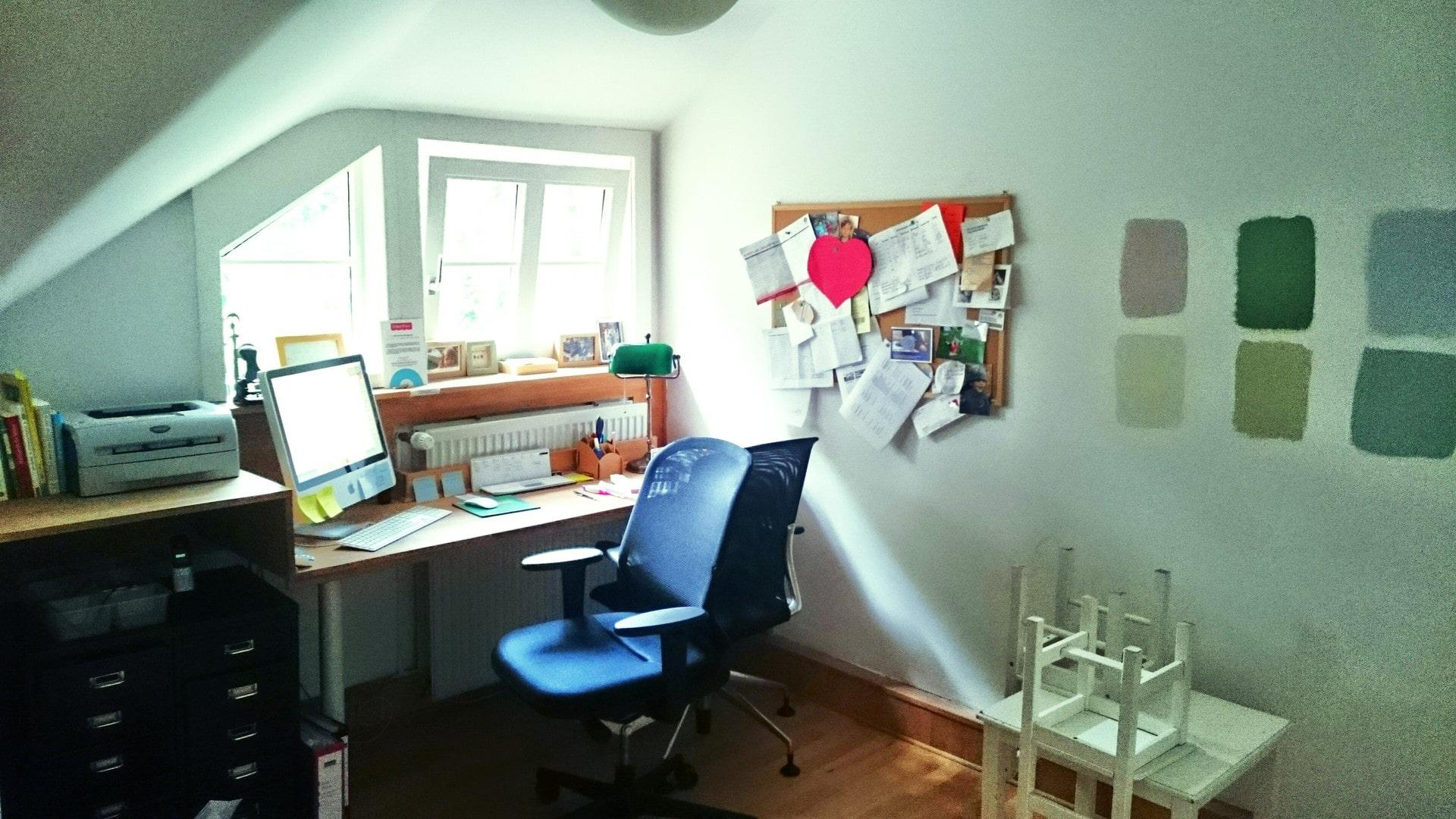 Die große Home (office) Story: Einrichten mit Farben Frau Mutter Blog