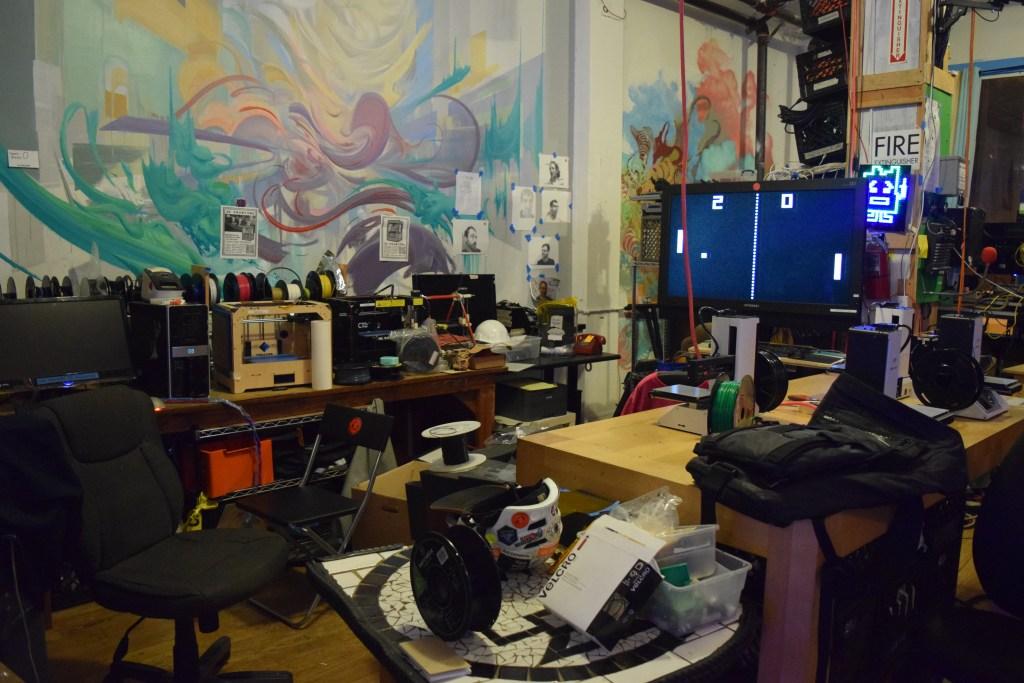 Noisebridge's 3D printing area