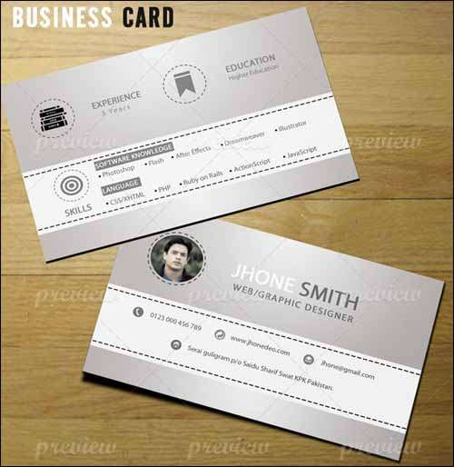 More than 25 Best Free PSD Business Card Templates 2014  Freakify - business card resume
