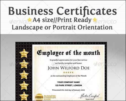 25 Most Popular Certificate Diploma Templates 2014  Freakify - business certificate templates