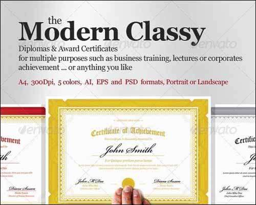 25 Most Popular Certificate Diploma Templates 2014  Freakify - Award Paper Template