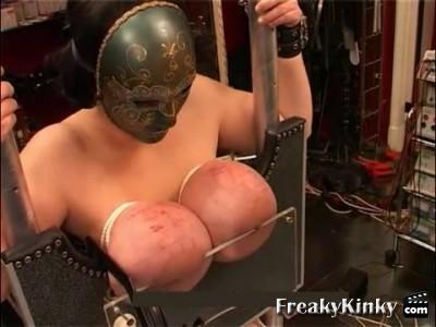 hardcore huge tit torture