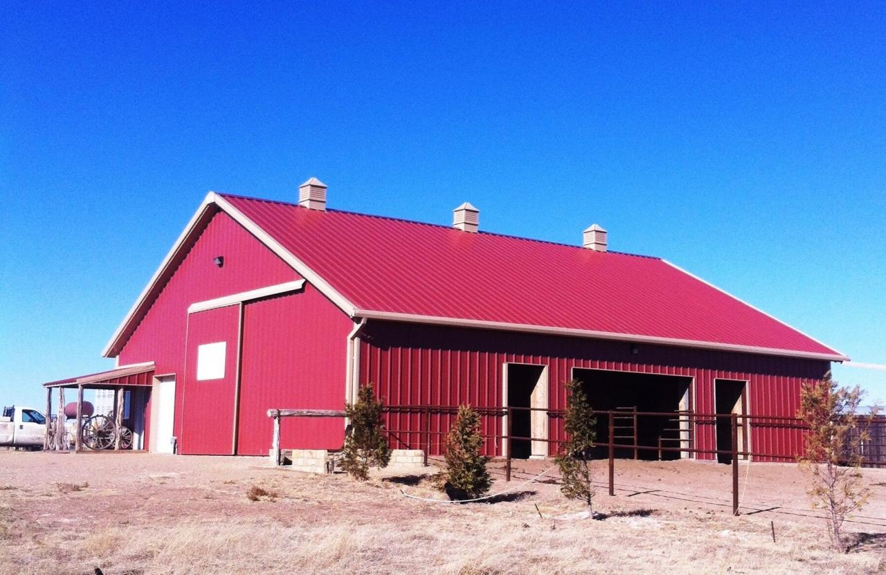 Barn Metal Metal Building Barn Construction Amarillo Tx Fred Berry