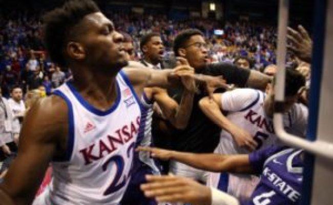 Kansas Vs Kansas State Fight At End Of Game Freddyo