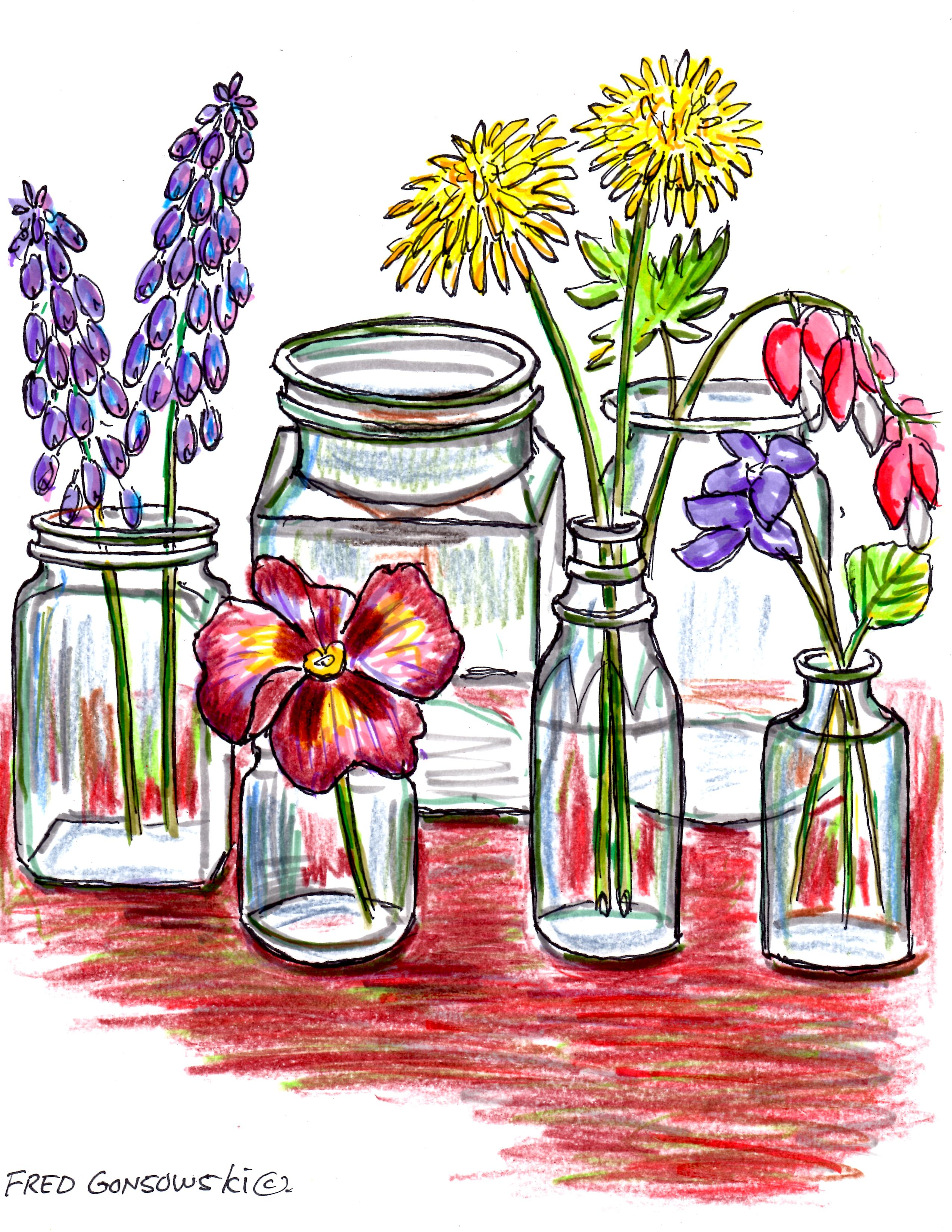 One Flower Vases Start Collecting Small Glass Bottles They Make Great