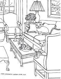 Coloring pages for Adults Some Drawings of Living Rooms ...