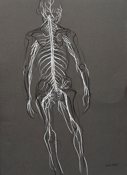 Nerves of the Back, 2009, by Fred Hatt