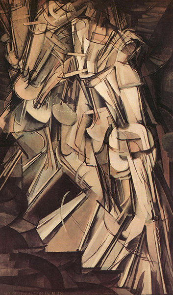 Nude Descending a Staircase, 1912, by Marcel Duchamp