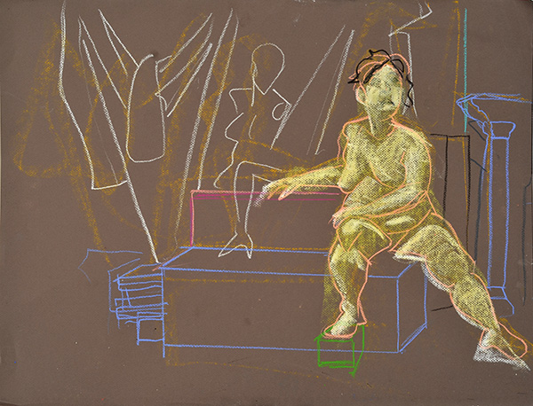 B with Mannequins, sketch version, 2012, by Fred Hatt