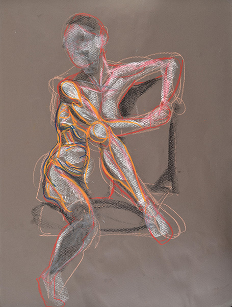 M with Stockings, sketch version, 2013, by Fred Hatt