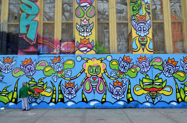 Mural by Kid Lew, 5 Pointz, photo by Fred Hatt