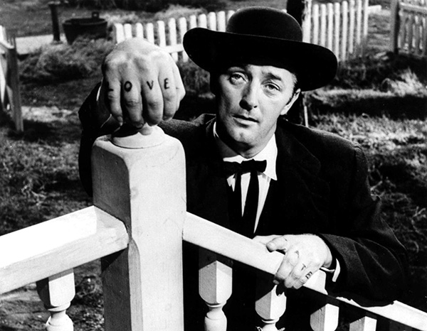 """Still from """"Night of the Hunter"""", 1955 film directed by Charles Laughton, with Robert Mitchum"""