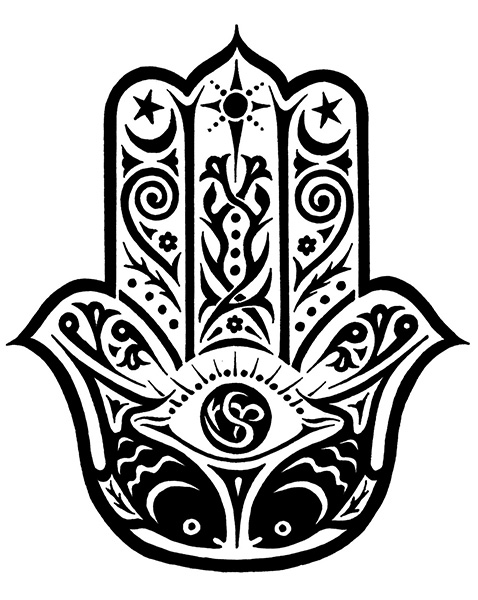 Hamsa amulet, artist unknown