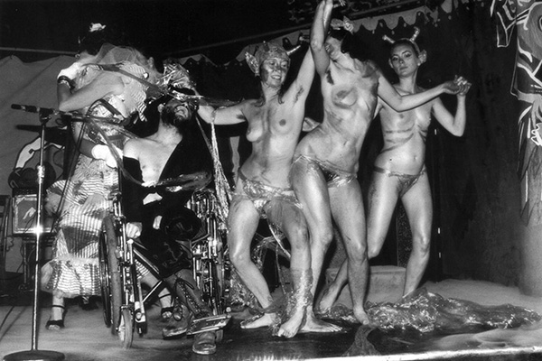 "Frank Moore and dancers in the ""Outrageous Beauty Revue"", 1987, photographer unknown"