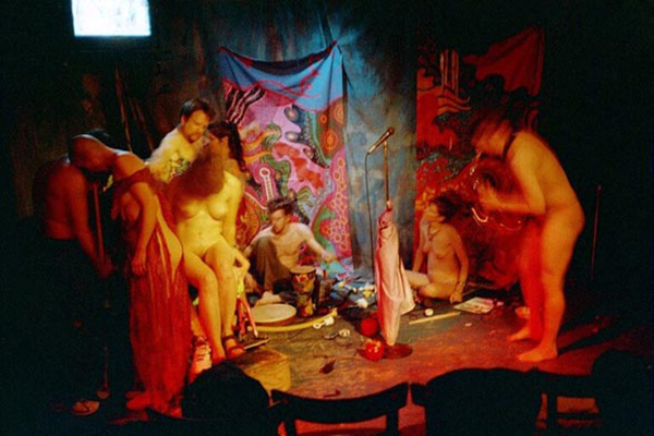 "Frank Moore's ""Free Tribal Hot Skin Passion Music/Dance Jam"",  Surf Reality, New York City, 2002, photo by Michael LaBash"