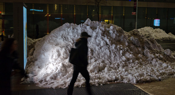 Snow Mound, 2014, photo by Fred Hatt