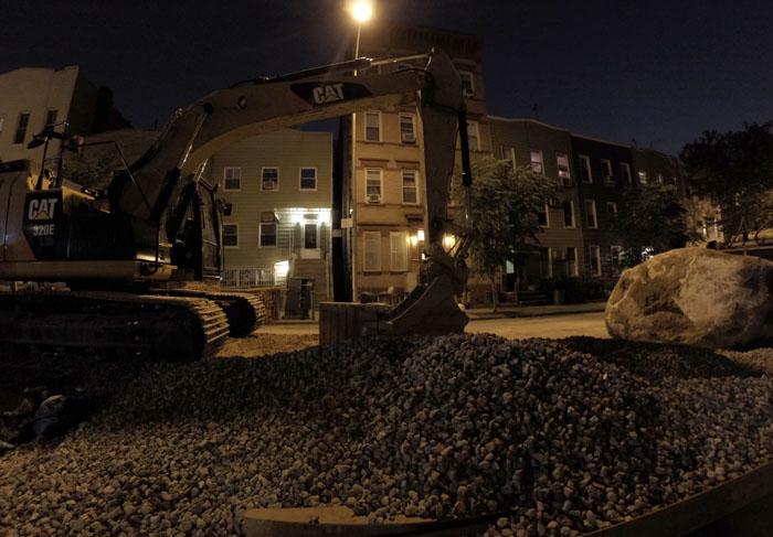 Street Construction, 2014, photo by Fred Hatt