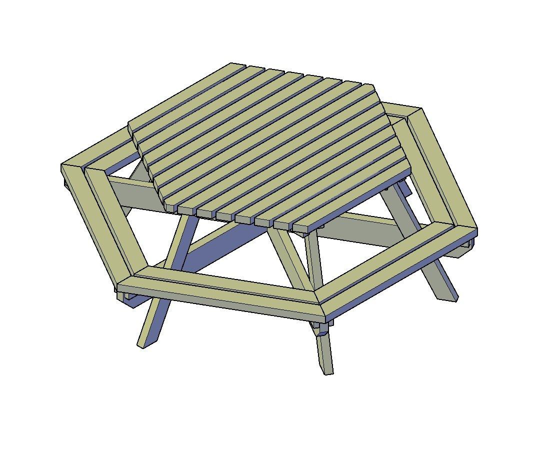 Esstisch Sechseckig Tisch Selber Bauen Aus Resten Von Baustellen